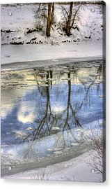 Winter Reflections Acrylic Print by John  Greaves