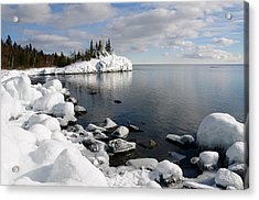 Winter Reflections Acrylic Print by Sandra Updyke