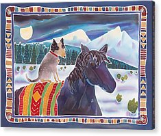 Winter Ride Acrylic Print by Harriet Peck Taylor