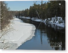 Acrylic Print featuring the photograph Winter River I by Jessie Parker