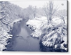 Acrylic Print featuring the photograph Winter River by Liz Leyden