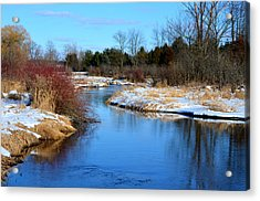 Winter River1 Acrylic Print by Jennifer  King