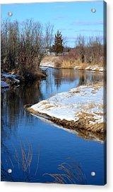 Winter River4 Acrylic Print by Jennifer  King