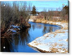 Winter River5 Acrylic Print by Jennifer  King