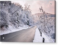 Winter Road After Snowfall Acrylic Print by Elena Elisseeva