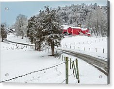 Winter Road Acrylic Print by Bill Wakeley