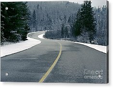 Acrylic Print featuring the photograph Winter Road by Jessie Parker