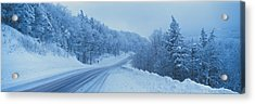 Winter Road Nh Usa Acrylic Print by Panoramic Images