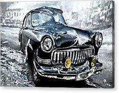 Winter Road Warrior Acrylic Print by Pennie  McCracken