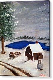 Winter Acrylic Print by Roy J Moyle