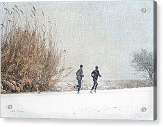 Winter Runners Acrylic Print by Betty LaRue