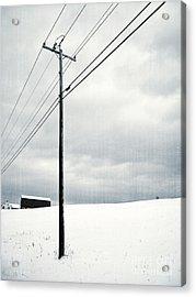 Winter Rural Scene Acrylic Print by Edward Fielding