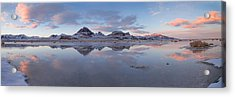 Winter Salt Flats Acrylic Print by Chad Dutson