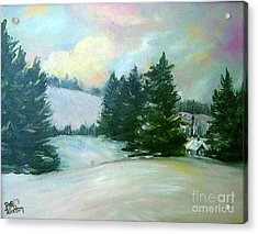 Winter Sang In The Chimneys Acrylic Print
