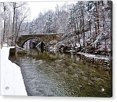 Winter Scene At Valley Green Acrylic Print by Bill Cannon