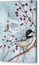 Winter Scene I Acrylic Print by April Moen