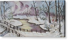 Winter Scene Acrylic Print by Joni McPherson