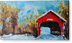 Winter Scene Landscape Acrylic Print