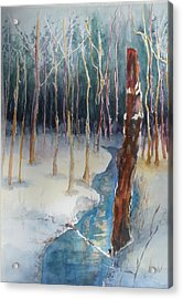 Winter Scene Acrylic Print by Lori Chase