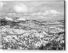 Winter Scenery In Bryce Canyon Utah Acrylic Print