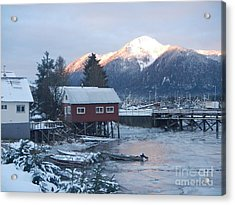 Acrylic Print featuring the photograph Winter Scenery by Laura  Wong-Rose
