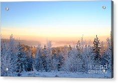 Winter Scenery Of The Lake Hiidenvesi Acrylic Print