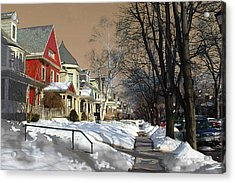 Acrylic Print featuring the pyrography Winter Scenery  by Viola El