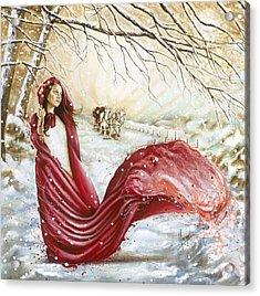 Winter Scent Acrylic Print by Karina Llergo