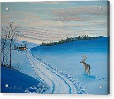 Winter Sentinel Acrylic Print