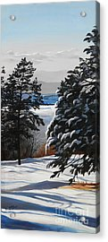 Winter Serenity Acrylic Print by Suzanne Schaefer