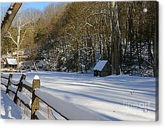 Winter Shack Acrylic Print by Paul Ward