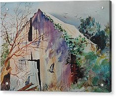 Acrylic Print featuring the painting Winter Shadows by John  Svenson
