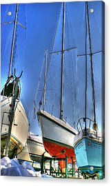 Winter Shipyard Acrylic Print