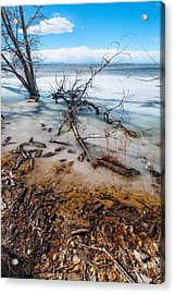 Winter Shore At Barr Lake_2 Acrylic Print
