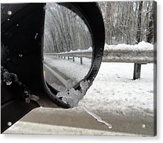Acrylic Print featuring the photograph Winter Side View Mirror by Mary Beth Landis