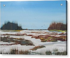 Acrylic Print featuring the painting Winter Silence by Jack G  Brauer