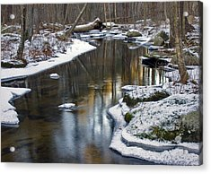 Winter Snake Meadow Brook Acrylic Print