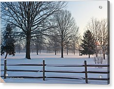 Winter Snow And Shadows Acrylic Print