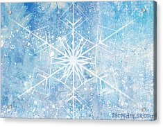 Winter Snow Flake Acrylic Print by Sacred  Muse