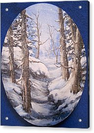 Acrylic Print featuring the painting Winter Snow by Megan Walsh
