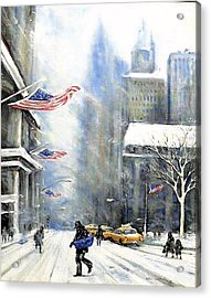 Winter Snow Nyc Acrylic Print