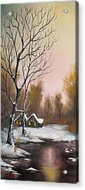 Winter Solace Acrylic Print by C Steele