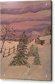 Winter Solitude Acrylic Print by Renee McKnight