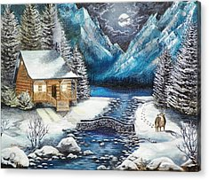 Acrylic Print featuring the painting Winter Solstice by Kevin F Heuman