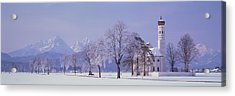 Winter St Coloman Church Schwangau Acrylic Print by Panoramic Images