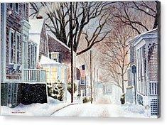 Winter Still Acrylic Print by Karol Wyckoff