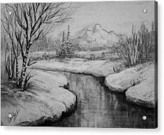 Winter Stillness Acrylic Print by C Steele