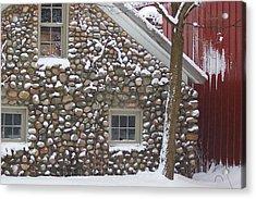 Winter Stone Pattern Acrylic Print by Randy Pollard