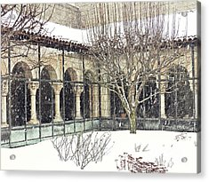 Winter Storm At The Cloisters 4 Acrylic Print