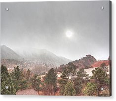 Winter Storm In Summer With Sun Acrylic Print